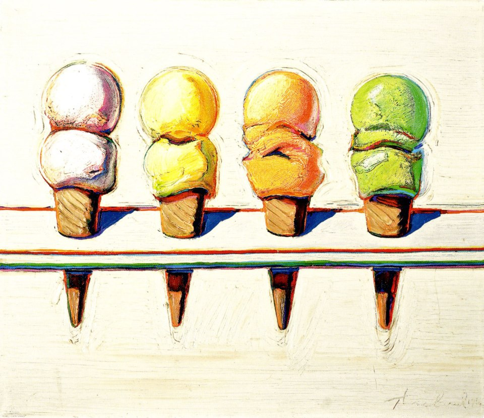 wayne-thiebaud-four-cones